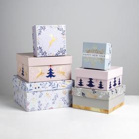 Набор подарочных коробок 6 в 1 «Нежность», 10 × 10 × 6 - 20 × 20 × 11 см
