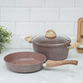 Набор посуды Casta Lovil 2 пр: Сковорода 24 см, Кастрюля 4 л