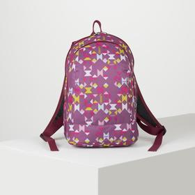 Рюкзак школьный, 2 отдела на молниях, цвет фиолетовый