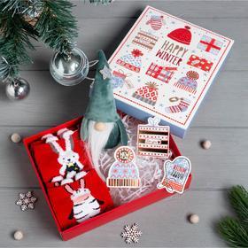 """Подарочный набор KAFTAN """"Happy winter"""" носки р, 36-39 (23-25 см), ёлочная игрушка"""