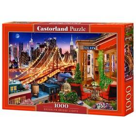 Пазл 1000 элементов «Огни Бруклинского моста»