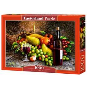Пазл 1000 элементов «Фрукты и вино»