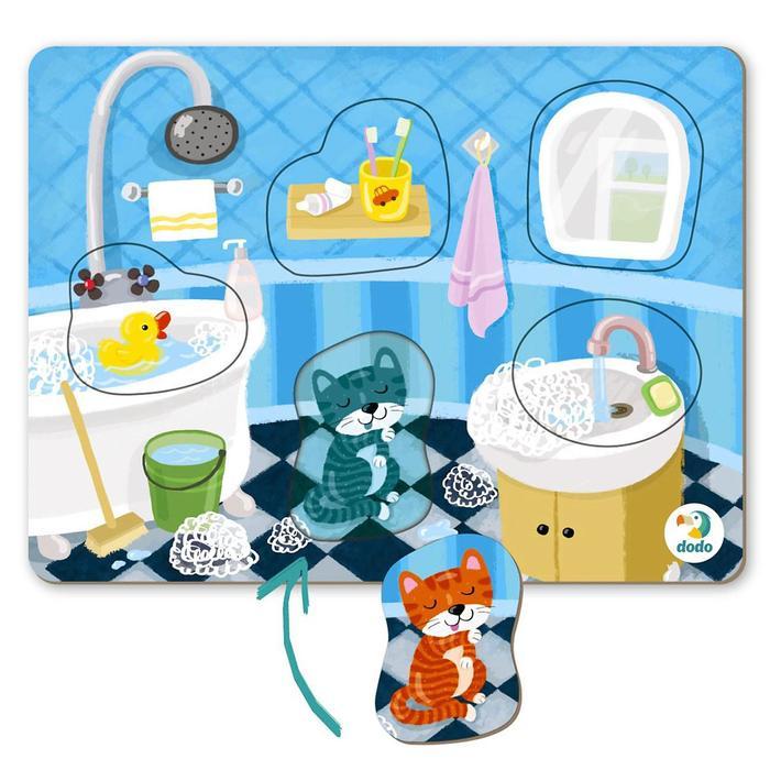 Пазл-сортер 5 элементов «Ванная комната» - фото 1038243