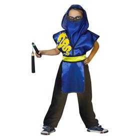 Карнавальный костюм ниндзя «Жёлтый дракон», защита с капюшоном, маска, пояс, штаны, оружие, р. 28, рост 98-104 см