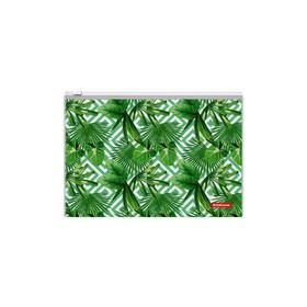 """Папка-конверт на гибкой молнии ZIP В5 ErichKrause """"Tropical Leaves"""" 48662"""