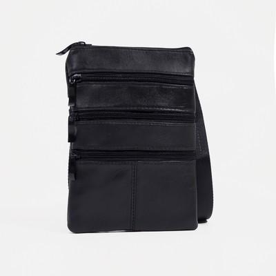 Bag husband 1363, 16*1*22, otd 3 zip, black