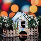 """Чайный домик новогодний """"Олени"""", цветной, 8×16×25.7 см - фото 492641"""
