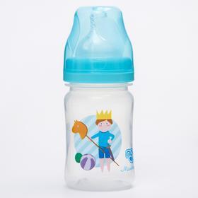 Бутылочка для кормления с широким горлом,150 мл. ср.поток МИКС