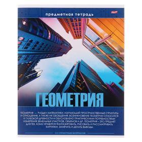 Тетрадь предметная 48 листов в клетку «Эрудит. Геометрия», обложка мелованный картон, блок офсет