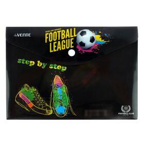 Папка-конверт на кнопке A5 (240 x 170 мм), 150 мкм, непрозрачная с рисунком, deVENTE Football league