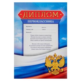 The diploma of the first grade, flag, 21х29,7 cm