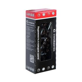 Саморез  4,8х28 кровельный, темно-коричневый, RAL 8017, уп. 60 шт.