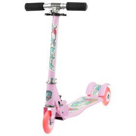 Самокат Foxx Fairy Tale, сталь, колёса PU 100 мм, ABEC-7, цвет розовый