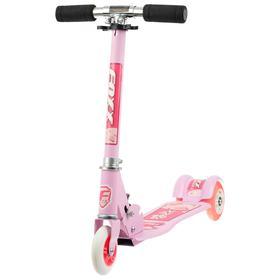 Самокат Foxx Smooth Motion, сталь,колёса PVC 100 мм, ABEC-7, цвет розовый