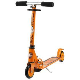 Самокат Foxx Zomby Zone, алюминий/сталь, колёса PU 100 мм, ABEC-7, цвет оранжевый