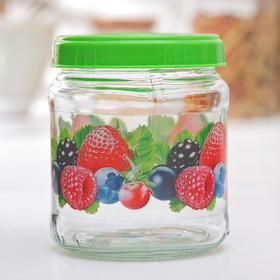 """Bank for storage of loose products 450 ml """"Berry mix"""" (twist)"""