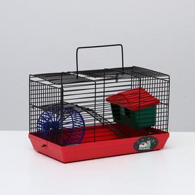 """Клетка-мини для грызунов """"Пижон"""" №2, укомплектованная, 27 х 15 х 16 см, рубиновая"""
