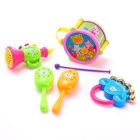 Набор музыкальных инструментов «Мишки», 6 предметов, цвета МИКС