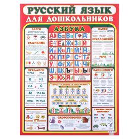 """Плакат """"Русский язык для дошкольников"""" А2"""