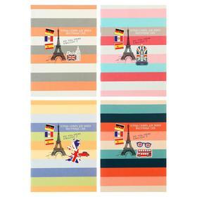 Тетрадь для записи иностранных слов А6, 32 листа «Эйфелева башня», обложка мелованный картон, блок офсет, МИКС Ош
