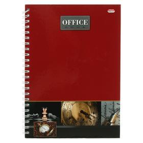 Записная книжка А5, 80 листов на гребне «Офисный стиль 3», твёрдая обложка, глянцевая ламинация