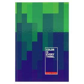 Книга учёта 200 х 298 мм, 160 листов в клетку «Зелёный и фиолетовый», твёрдая обложка, глянцевая ламинация, блок офсет