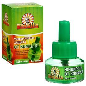 """Дополнительный флакон-жидкость от комаров """"Кинкила"""", 30 ночей, без запаха, 30 мл"""
