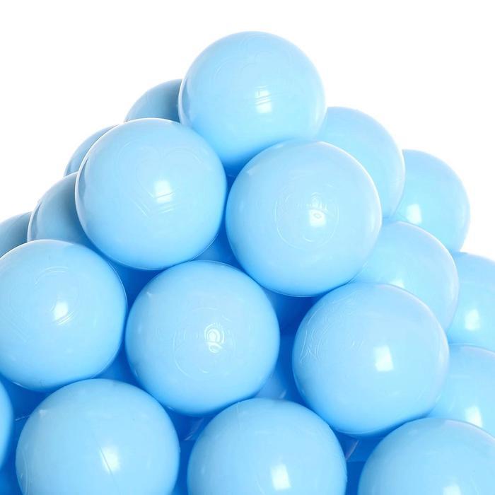 Набор шаров для сухого бассейна 500 штук, цвет светло-голубой
