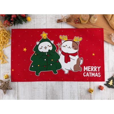 "Towel ""Share"" Merry catmas 35х60 cm,100% cotton 160 g/m2"