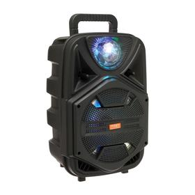 Портативная караоке система BK1002, microSD/USB/FM, Bluetooth 5.1, 20 Вт, 1800 мАч, чёрная