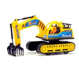 Трактор инерционный «Экскаватор», цвета МИКС