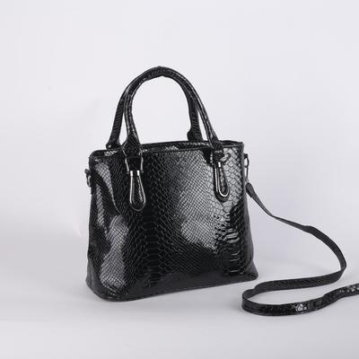 Bag wives 8913 29*13*25 2отд zip, Nar pocket, black