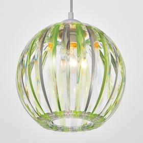 Светильник 4330/1, 1хЕ27 15Вт,, зеленый/прозрачный 21х24+60 см