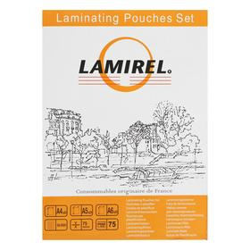 Пленка для ламинирования набор Lamirel А4, A5, A6 по 25 шт., 75мкм LA-78787
