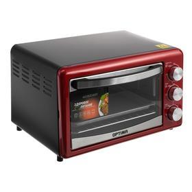 Духовка электрическая OPTIMA O-232MR, 1300 Вт, 18 л, красная