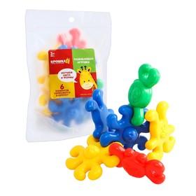 Развивающая игрушка «Собери цепочку», 6 элементов, МИКС