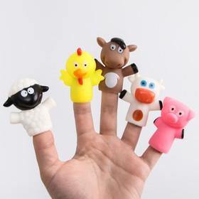 Развивающая пальчиковая игрушка «Ферма», 5 шт