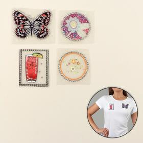 Set thermoapplication with rhinestone Assorted №2 (4 figures)