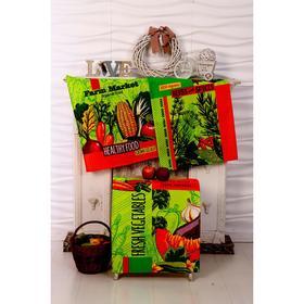 Набор вафельных полотенец «Специи» цвет зелёный, 45х60 см - 3 шт