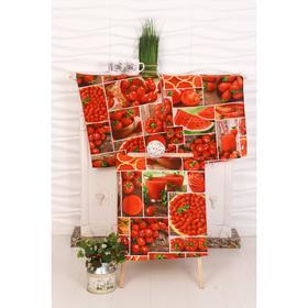 Набор вафельных полотенец «Яркий микс» 45х60 см - 3 шт