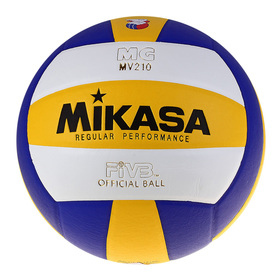 Мяч волейбольный Mikasa MV210, размер 5, PU, бутиловая камера, клееный