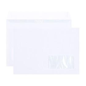 Набор конвертов С5, 162 х 229 мм, чистый, правое окно, силиконовая лента, внутренняя запечатка, 25 штук