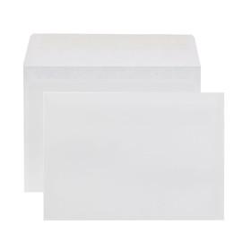 Набор конвертов С6, 114 х 162 мм, чистый, без окна, клей, внутренняя запечатка, 80 г/м2, 100 штук