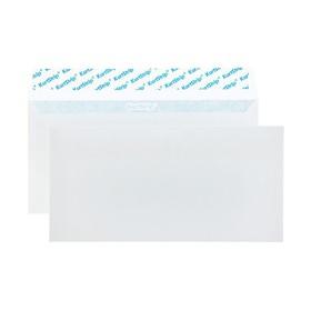 Набор конвертов E65, 110 х 220 мм, чистый, без окна, силиконовая лента, внутренняя запечатка, 80 г/м2, 100 штук