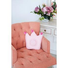 Подушка детская анатомическая Крошка Я «Корона» 32х25 см, цвет розовый