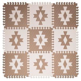 Детский коврик-пазл «Этника 1» 33х33 см, толщина 18 мм, (кофе с молоком, светло-кремовый), МИКС, термоплёнка