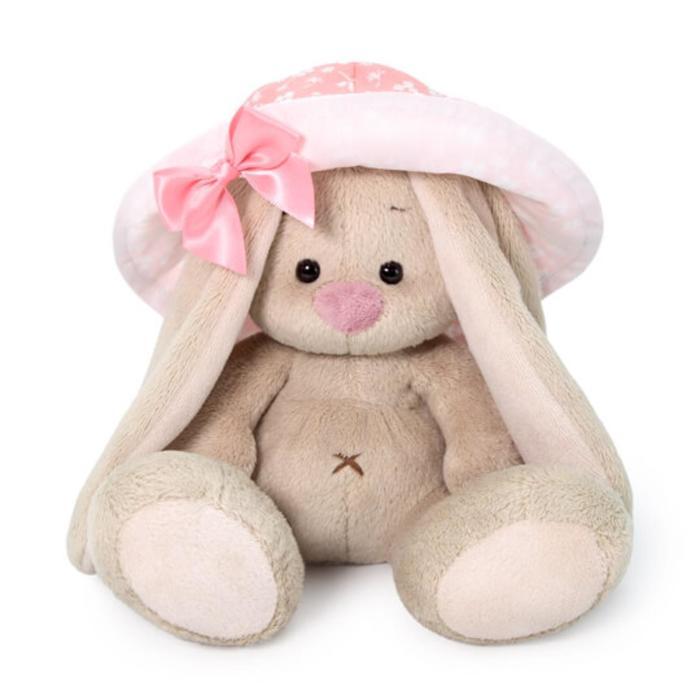 Мягкая игрушка «Зайка Ми», в розовой панаме, 15 см - фото 4468019