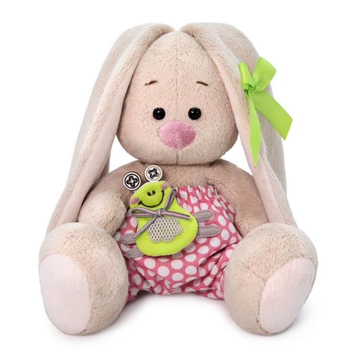 Мягкая игрушка «Зайка Ми», с лягушонком, 15 см - фото 4468031