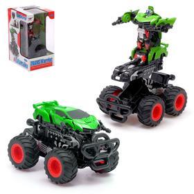 """Робот-трансформер """"Монстр"""", инерционный, цв.зелёный"""