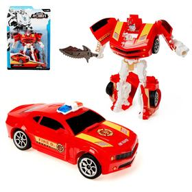 Робот «Полицейский», трансформируется, цвет красный